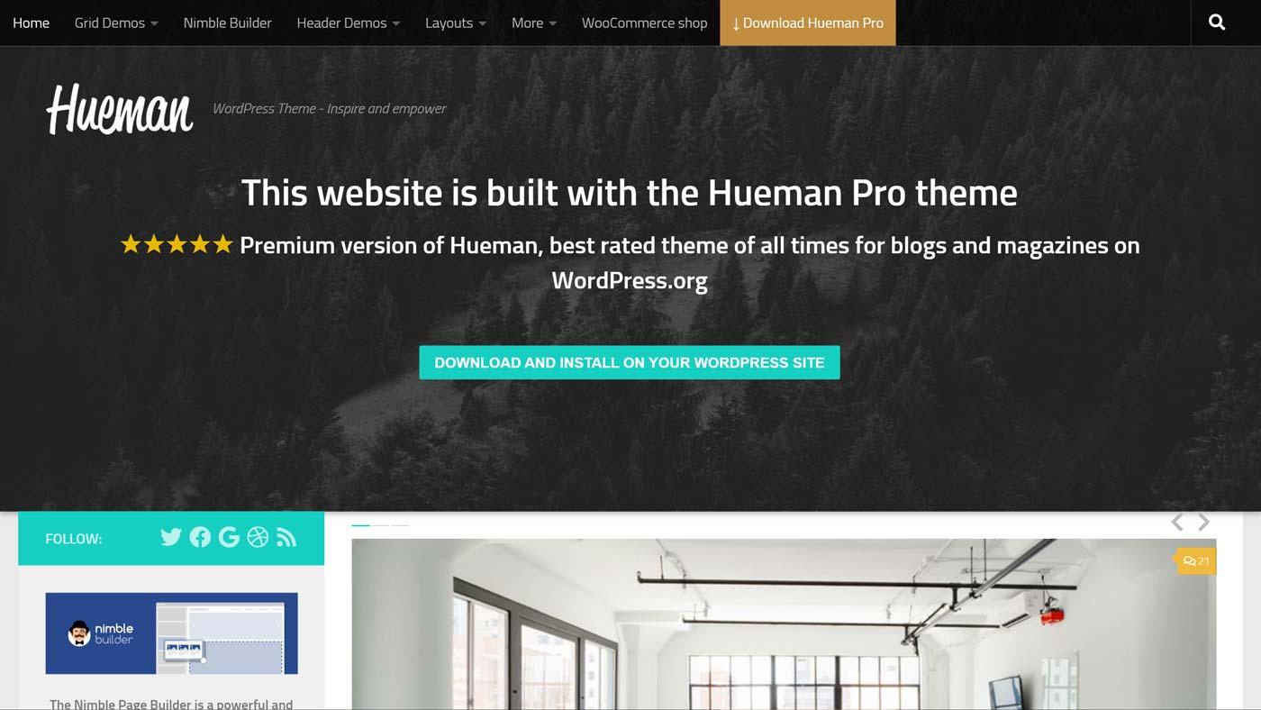 Hueman para WordPress