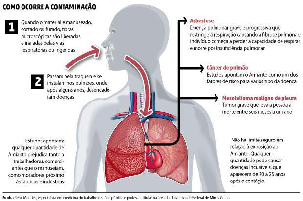 Processo de Contaminação por Amianto