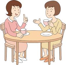 Conversa entre duas pessoas