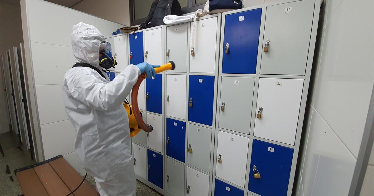 Ações sugeridas para limpeza e desinfecção