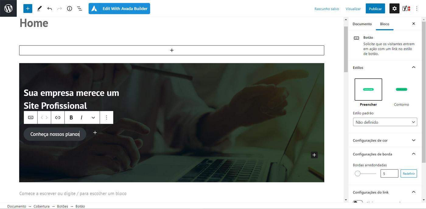Crie uma página inicial personalizada no WordPress usando Gutenberg