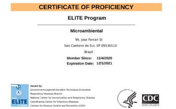 Microambiental obtém novamente acreditação pelo Programa Elite do CDC para Legionella