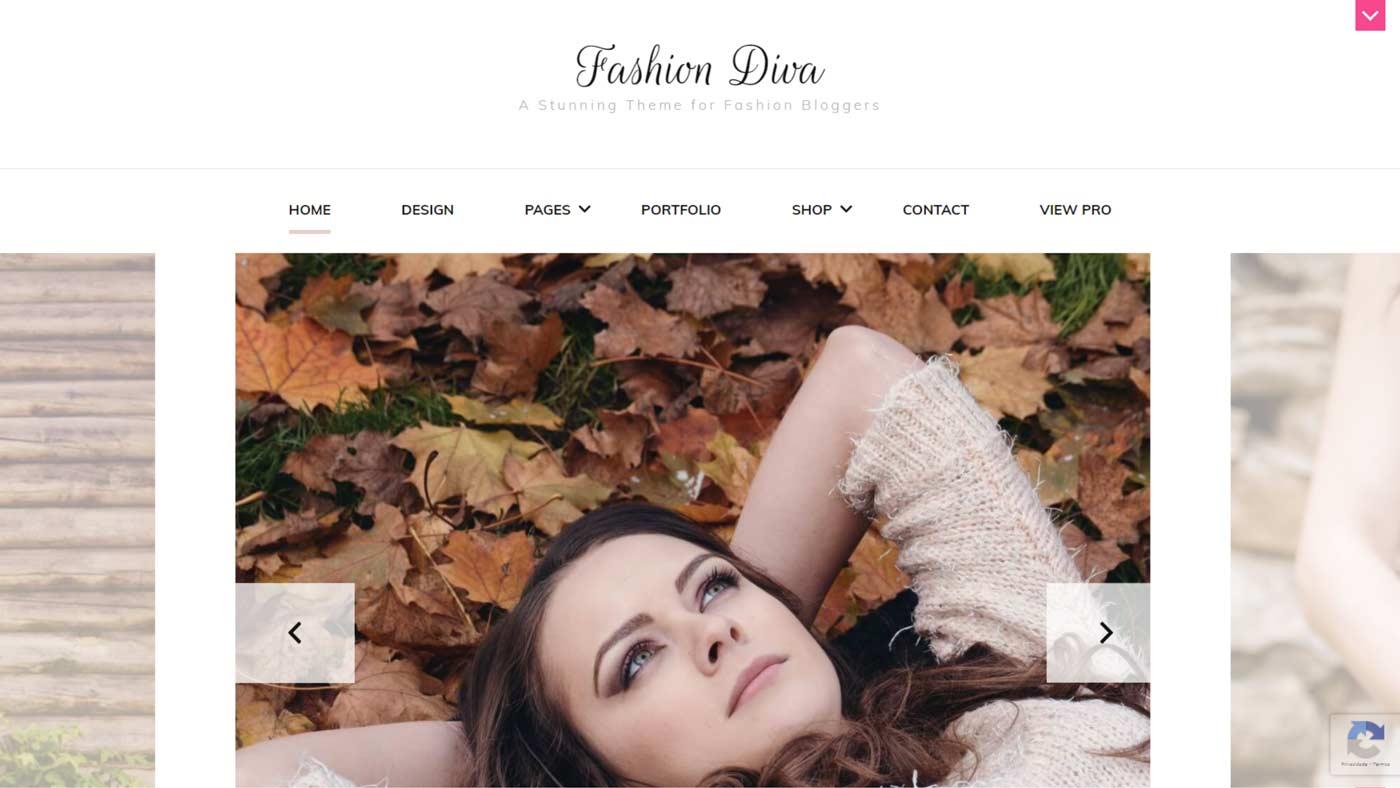 Tema Fashion Diva para WordPress