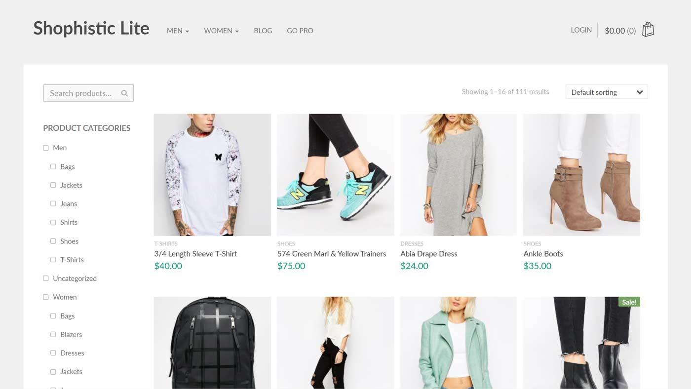 Tema Shophistic Lite para WordPress