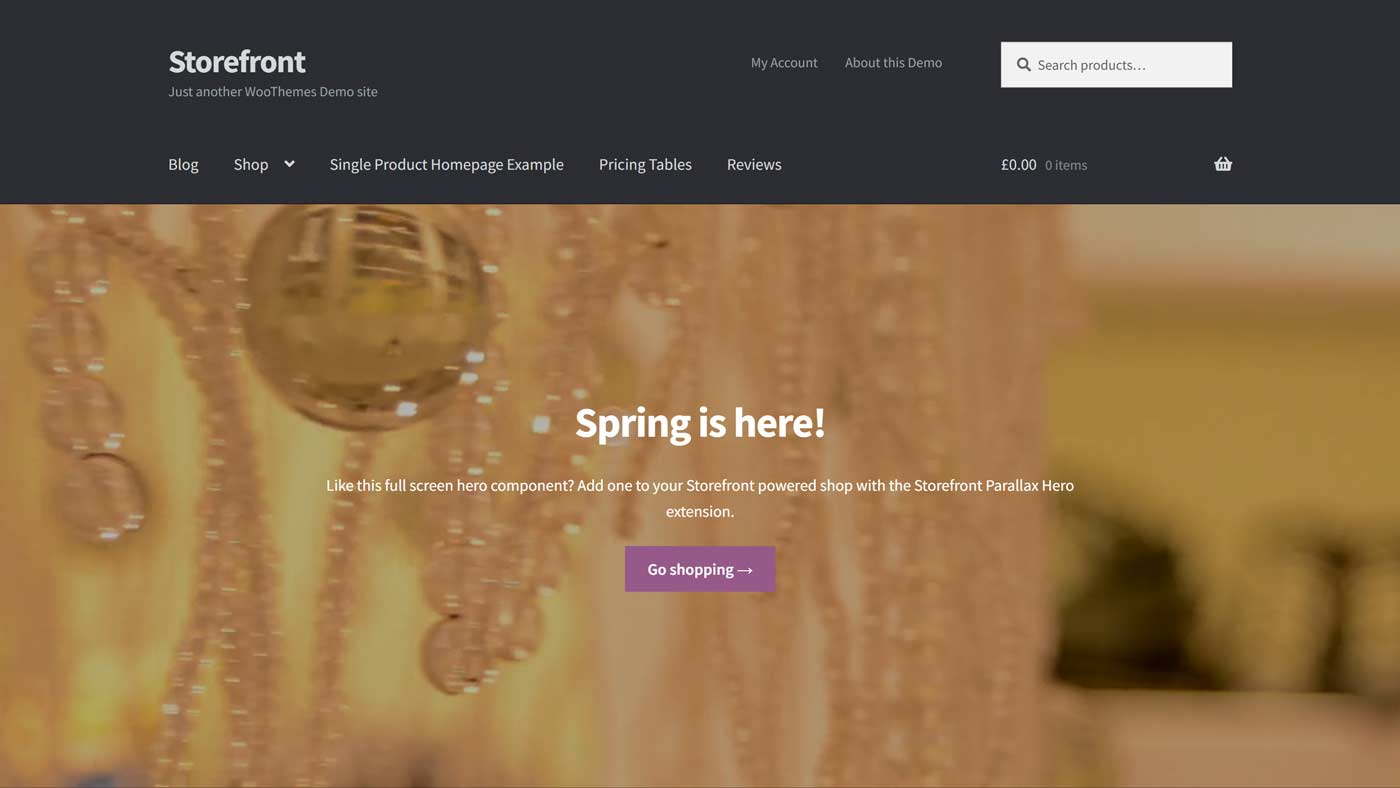Tema Storefront para WordPress